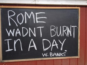 Rome Wadn't Burnt In A Day-W. Banks